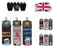 Mens Socks Novelty Slogan Stocking Funky Funny Styles Gift Idea Ankle Sock 6-11