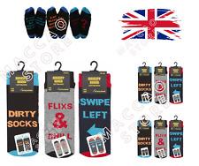 Mens Funny Socks Novelty Slogan Fun Style Gift Idea High Ankle Sock 6-11