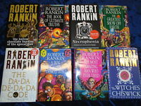 * 8 ENTERTAINING NOVELS by ROBERT RANKIN * UK FREE POST* HARDBACKS*