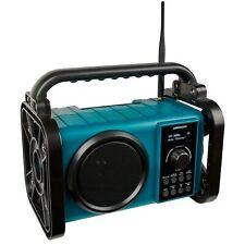 MEDION E66045 Bluetooth Akku Baustellenradio DAB+ IP44 PLL UKW Radio 50W türkis