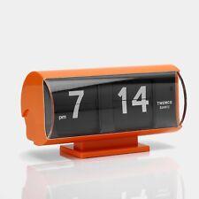 Twemco QT-30T Orange Analog Flip Clock