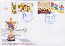 Nagorno Karabakh 2009 Chess Olympiad Germany Registered Fdc To Armenia R15368 Stamps