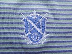 Peter Millar Green Striped N Golf Shirt (L) SOFT! ⛳️ ⛳️ 🔥