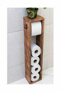 Toilettenpapierhalter aus Holz - eine Rolle Gratis - Badezimmer 4 Rollen Ständer