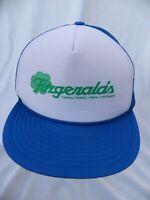 Vintage Fitzgerald's Casino Trucker Hat Snapback Blue Advertising Las Vegas Reno