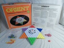 100% Complete ! Orient 3D Chinese Checkers Board Game Marble/Peg Strategy 1972