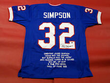 OJ SIMPSON AUTOGRAPHED BUFFALO BILLS STAT THROWBACK JERSEY AASH READ DISCOUNT