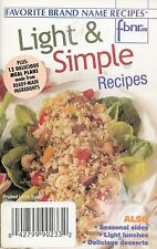 LIGHT & SIMPLE RECIPES FAVORITE BRAND NAME COOKBOOK VOL. 7 NO. 13 JULY, 2002 YUM