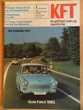 KFT KRAFTFAHRZEUGTECHNIK 1/1983 6* Trabant Simson GS 125 Tatra 815 Typ. TV 14 F