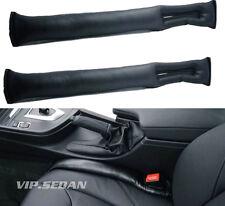 2PCS BLACK LEATHER LUXURY VIP AUTO CAR SEATS GAP FILLER STOP GAP FILLER HOLSTER