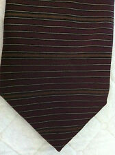 Bill Blass Modern 100% Silk Tie~Made in Mexico~Burgundy Copper Stripe~(#188)