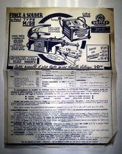 ANCIENNE PUBLICITE PINCE A SOUDER TYPE M/511 PERFEX