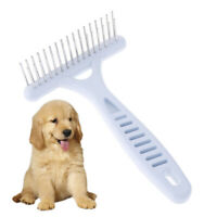 Pet White Rake Comb Stainless Steel for Dog Double-Tooth Dislocation Grooming mi