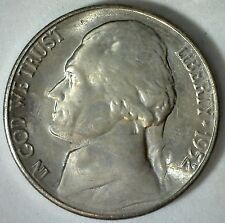 1952 S Jefferson Nickel Unc Five Cent Choice Bu Coin Uncirculated