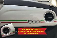 ADESIVO PLANCIA ITALIA CRUSCOTTO 500 ABARTH CORSE SPORTIVA SPORT ASSETTO CORSE