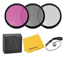 49mm 3Pc Filter Kit (UV-CPL-FLD) For Camera lens & Camcorders