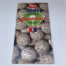 Post Foods 1991 MLB Player Card Collection Poster / Album Promotion NOT FULL
