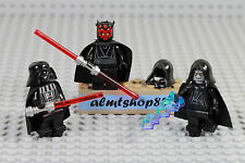 LEGO Star Wars - 3x Minifigure Lot Darth Vader / Darth Maul / Sidious Emperor