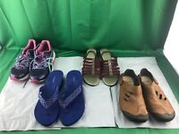 LOT OF 4 WOMAN'S SANDALS & SNEAKERS