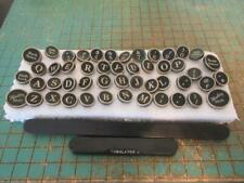 Vintage 1930s LC Smith Super Speed Typewriter Keys - 49 White on Black Keys