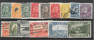 Canada beautiful 1930 George V regular and pictorial set