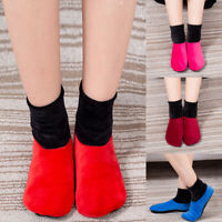 Winter Unisex Women Home Fleece Thick Bed Sock Non Slip Slipper Soft Floor Socks
