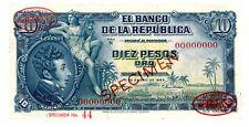 Colombia ... P-400as ... 10 Pesos Oro ... 1.1.1953 ... *AU-UNC* ... Specimen #44
