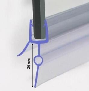 Duschdichtung für 5-6mm Duschtrennwand unten, 90 cm lang, Höhe der Lippe 20mm