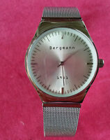 BERGMANN 1981 Herren  Armbanduhr / Uhr mit Quarzwerk / Metallarmband -watch.ag