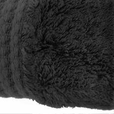 Black Luxury Soft Absorbent Bamboo Bathroom Bath Linen Hand Towel 50 X 100cm (b) 2 Towels