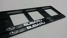 2X SUBARU NEUF EXCLUSIF SUPPORT DE PLAQUE D'IMMATRICULATION EUROPEA.