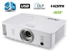 ACER 3D DLP Projektor Beamer 20000:1 3200 ANSI Lumen HDMI VGA S-VIDEO USB P1185