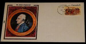Vintage Cover,1978,ST JEAN,QB,CANADA,St John's Newfoundland Captured,1709,Battle