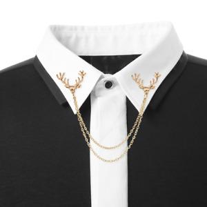 Doppio Spilla Cervo Anzug-Pin Steampuk Pin ´ S Collare Catena 2 Colori Alce