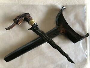 """Southern Thailand Patani Kris dagger : 9"""" steel blade with hilt and scabbard"""
