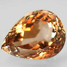 22.2  Ct. Natural Top Imperial Topaz Brazil Pear Shape Facet Superior Unheated
