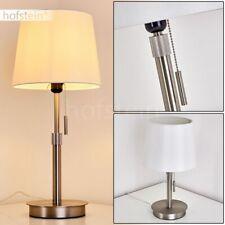 Vintage Wohn Schlaf Zimmer Beleuchtung Stoff weiß Lese Nacht Tisch Lampe Leuchte
