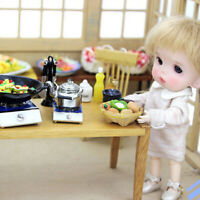 1:12 Dollhouse Decoration Metal Gas Stove Miniature Cooker Toy Kitchen SJDD