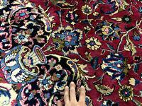 8x11 ANTIQUE ORIENTAL RUG HAND KNOTTED VINTAGE handmade handwoven pink 8x10 8x12