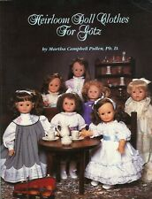 Gotz Doll Clothes Costumes Accessories -Patterns Sewing Techniques / Scarce Book