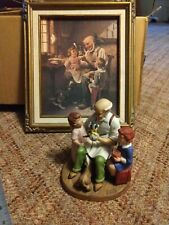 Norman Rockwell Collectors Club 1980 Annual Figurine The Toymaker and print