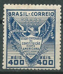 BRASIL Scott # 451 MLH 150 Aniversario Constitución USA