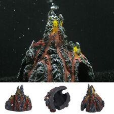Aquarium Volcano Shape & Air Bubble Stone Pump Oxygen Fish Tank Decor Ornament