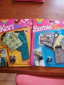 Vintage 1991 Barbie & Ken Cool Career Fashions Set of 2 - Business & Explorer