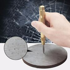 5 inch Automatic Center Pin Punch Spring Loaded Marking Starting Holes Tool Gold