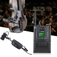 Professional UHF Wireless Clip On Microphone Portable Receiver with Violin Mount