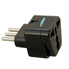 Grounded Universal Travel Plug Adapter for Italy Chile Tunisia Uruguay Socket