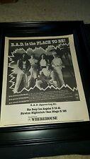 Big Audio Dynamite 1987 California Tour Rare Original Promo Poster Ad Framed!