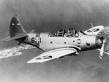 Douglas TBD Devastator Torpedo Bomber Aircraft Mahogany Wood Model Replica Small