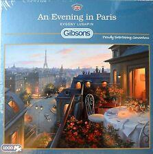 GIBSONS AN EVENING IN PARIS 1000 PIECE ROMANTIC DINNER SCENE JIGSAW PUZZLE